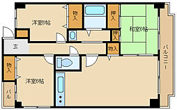 シャトー富松[1階]の間取り