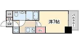 アドバンス新大阪ラシュレ.[13階]の間取り