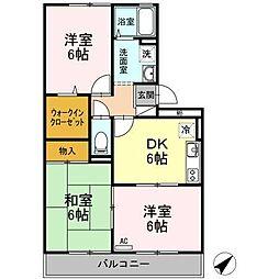 レジデンス・タケカタ[305号室]の間取り