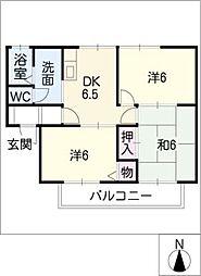 アトリオA棟[2階]の間取り