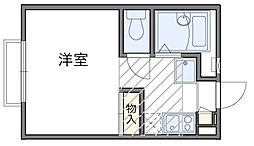 東京都府中市住吉町3丁目の賃貸アパートの間取り