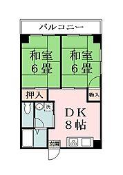 埼玉県草加市谷塚仲町の賃貸マンションの間取り