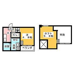 NOEL上小田井(ノエルカミオタイ)[1階]の間取り