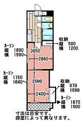 中津口センタービル[802号室]の間取り
