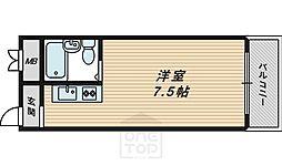 京阪グローリーハイツ[3階]の間取り