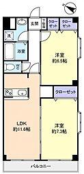 栗林第7ビル[4階]の間取り