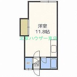 北海道札幌市東区北二十条東4丁目の賃貸アパートの間取り