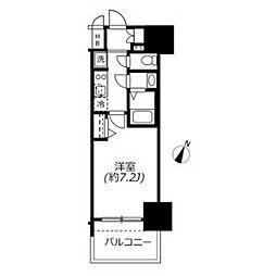 アドバンス名古屋モクシー 15階1Kの間取り