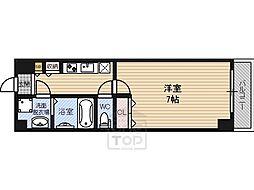 マッシーモ鶴見 6階1Kの間取り