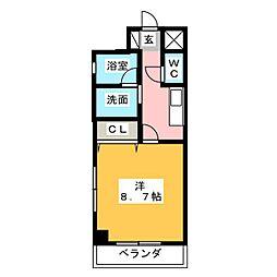 GRACE浄心駅前[3階]の間取り