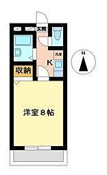 アルファコート名南[2階]の間取り