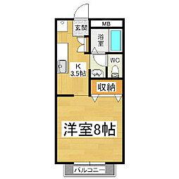 ホーユーコンホートI[2階]の間取り