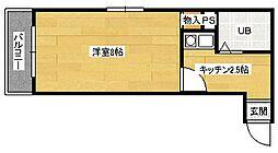 第13やたがいビル[206号室]の間取り