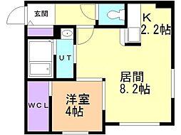 リヒトラーレ円山 5階1LDKの間取り