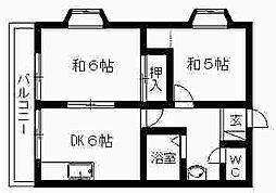 ひかりマンション[108号室]の間取り