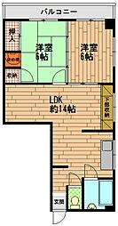 赤浦マンション[4階]の間取り