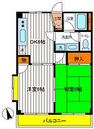 東京都昭島市昭和町1丁目の賃貸アパートの間取り