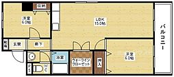 マンションクインビー[6階]の間取り
