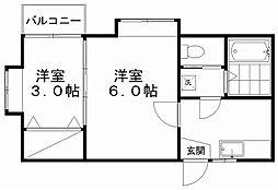 クレセントEmaII[2階]の間取り
