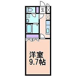 エスポアールS1[2階]の間取り