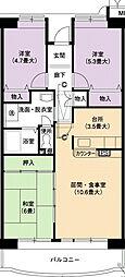 URアーバンラフレ小幡5号棟[4階]の間取り