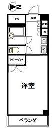 ナカジママンション[8階]の間取り