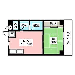 コーポ松城[2階]の間取り