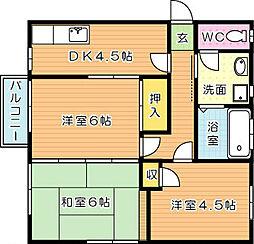 コーポ若葉台[1階]の間取り