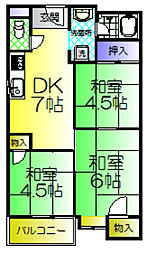 ロイヤル諏訪ノ森[5階]の間取り
