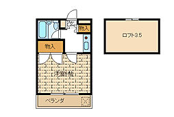 東京都江戸川区東葛西6の賃貸アパートの間取り