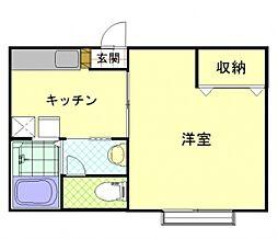 新潟県新潟市中央区東中通1番町の賃貸アパートの間取り