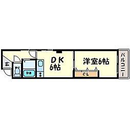 ハイツ金楽寺[3階]の間取り