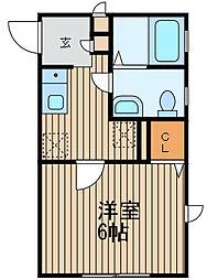 神奈川県横浜市鶴見区生麦4の賃貸アパートの間取り