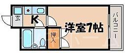 広島県広島市南区向洋大原町の賃貸マンションの間取り