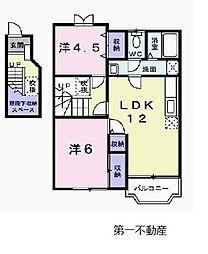 ムックinアサカ[2階]の間取り