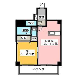 ベルカーサ西大須[6階]の間取り