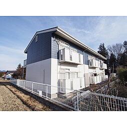 長野県松本市波田の賃貸アパートの外観