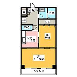 ミヤケビル[4階]の間取り