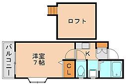イーストピュア筥松[2階]の間取り