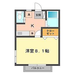 東京都江戸川区上篠崎2丁目の賃貸アパートの間取り