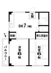 おきハウス[3階]の間取り