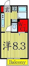 東京都足立区西新井6の賃貸アパートの間取り