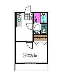 トヤマハイツII[1階]の間取り