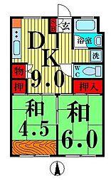 竹の塚駅前ビル[3階]の間取り