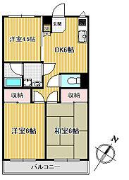 ガーデニア五番館[2階]の間取り