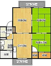 ファミーユ1[102号室]の間取り
