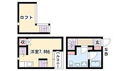 愛知県名古屋市南区豊田2丁目の賃貸アパートの間取り