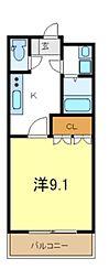 JR山陽本線 東加古川駅 徒歩7分の賃貸アパート 1階1Kの間取り
