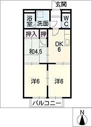 ソレーユ岩倉[1階]の間取り