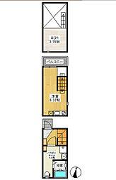 (仮称)アースクエイク桜ケ丘北棟[1階]の間取り